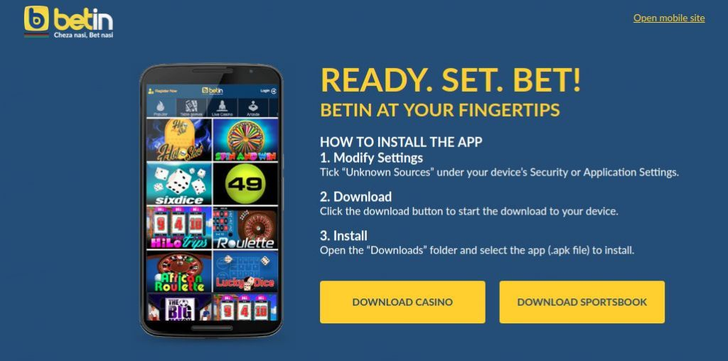 Betin Kenya login mobile