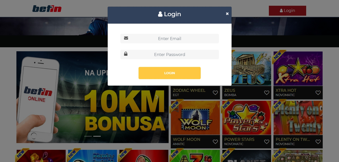 how to register at Betin