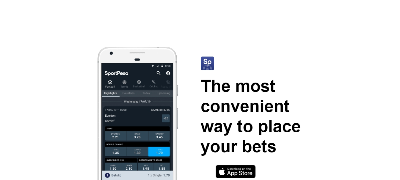 SportPesa mobile app