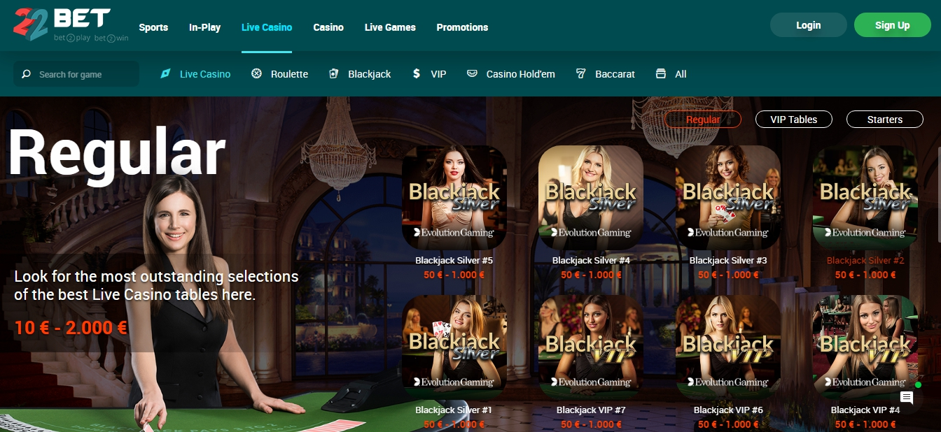 22bet sign-up account
