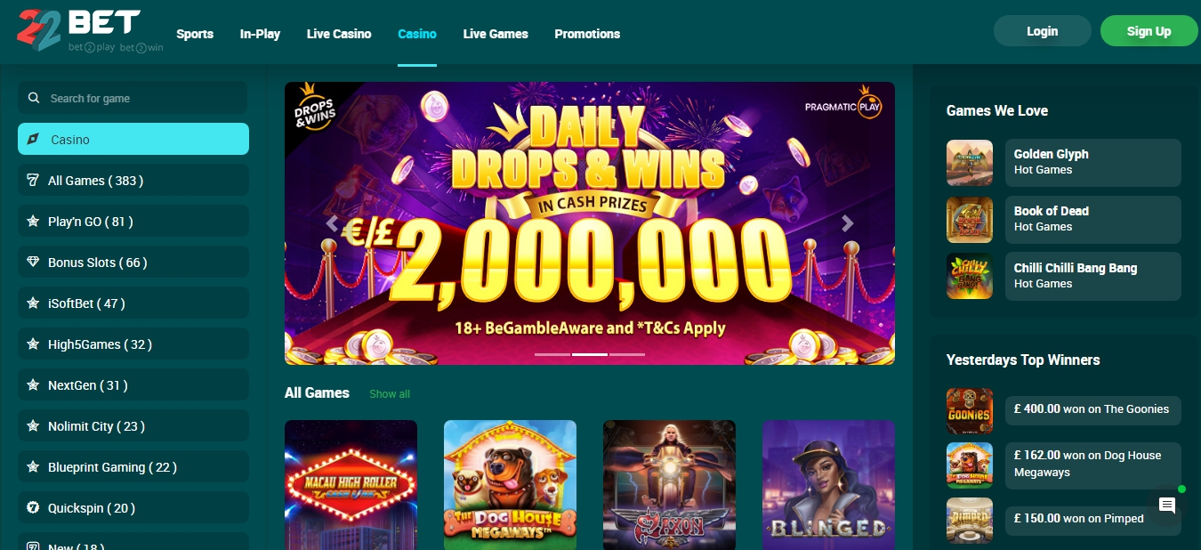 22bet betting company website